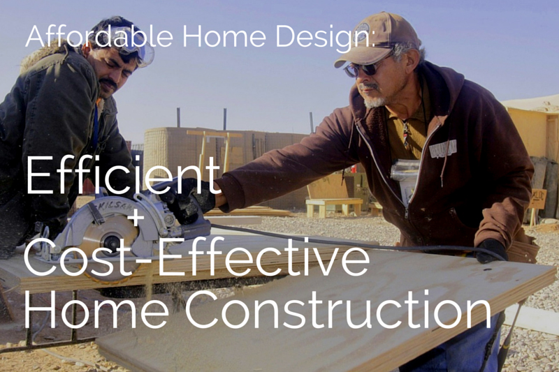 Affordable home design efficient cost effective house for Cost effective building design