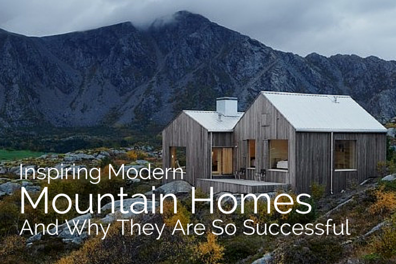 Inspiring modern mountain houses for Mountain houses