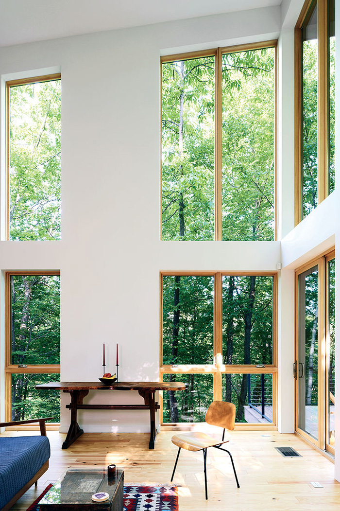 Design Strategies for Small Modern Homes - High Ceilings & Connection to the Outdoors