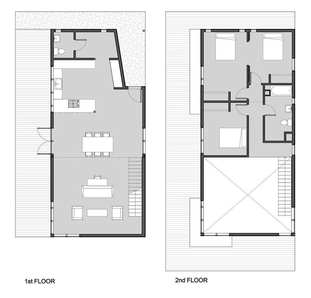 Characteristics Of Simple Minimalist House Plans Garden Street Residence By Pavonetti Architecture Drawing Courtesy