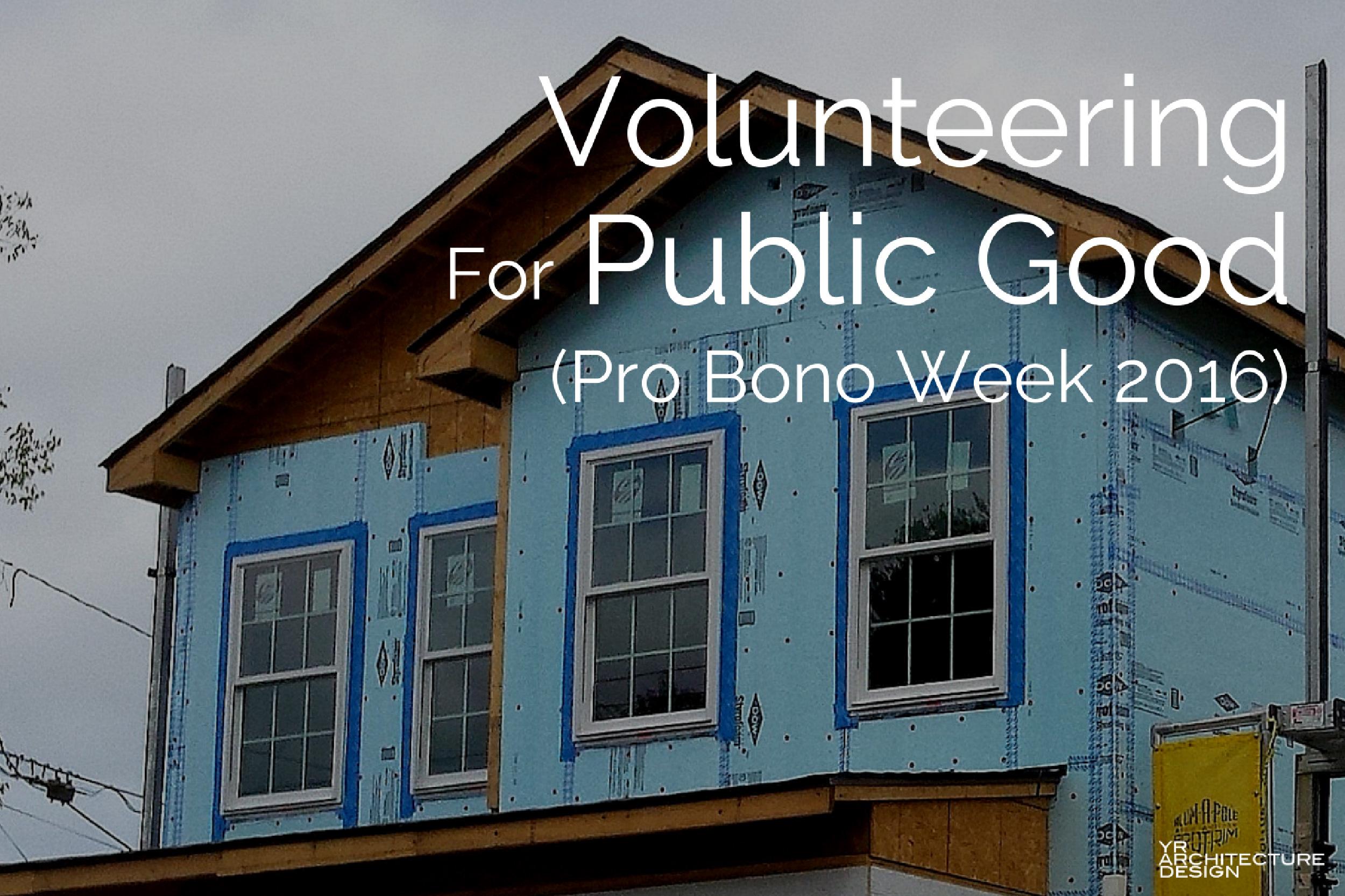 Volunteering For Public Good During Pro Bono Week 2016